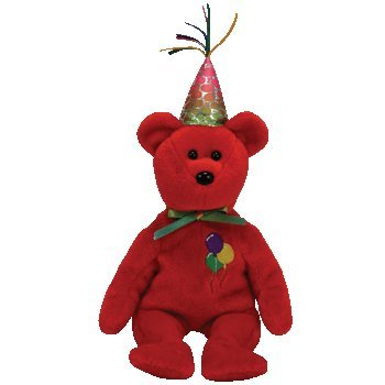 TY Beanie Baby Happy Birthday Bär rot (Happy Birthday Beanie Baby)