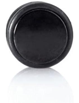 Ohrstecker Ear Fake Plug Blackline Mit Gummiring 8mm Ohrpiercing 1136BK