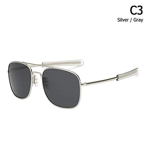ZHOUYF Sonnenbrille Fahrerbrille Mode Polarisierte Ao Armee Militärischen Stil Luftfahrt Sonnenbrille Männer Fahren Markendesign Sonnenbrille Oculos De Sol, C