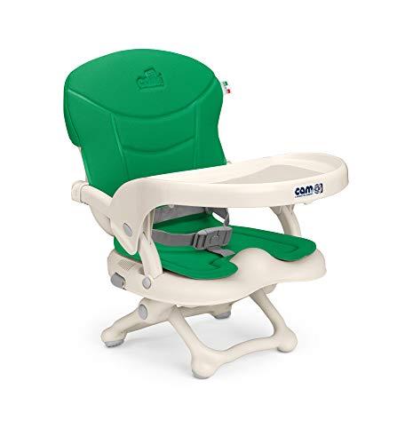 CAM Rialzo Smarty seggiolino per bambini & bambini, pieghevole, regolabile in altezza, 4 altezze (da 0 a 18 cm) e fissaggio universale alla sedia Colori/motivi.