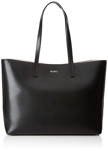HUGO Damen Downtown Shopper Tote, Schwarz (Black), 16x28.5x35 cm