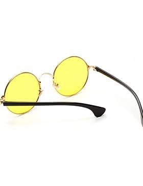 MagiDeal Unisex Gafas de Sol Redondas Estilo Océano 4 Colores Verde/Rosado/Azul/Amarillo