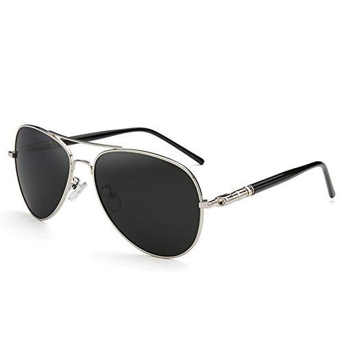 BFQCBFSG Sonnenbrille Herren Polarisator Mode Pilotenbrille Retro Sport Fahren Fahren Fahrerspiegel Angeln Metalllegierungsbrille, C