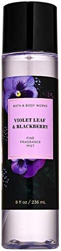 Bath and Body Works VIOLET LEAF & BLACKBERRY Fine Fragrance Mist 8 Fluid Ounce, 2020 Limited Edi
