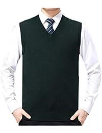 Vepodrau Los Hombres De Cuello V Sin Mangas Chaleco Casual Pullover Sweaters