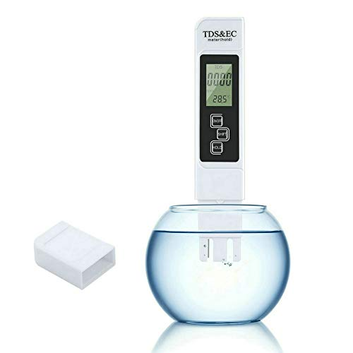 Gudoqi 3 in 1 digitale tester per la qualità dell'acqua professionale tds ec metro con temperatura per acqua potabile domestica idroponiche acquari piscine