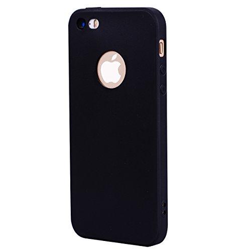 Custodia iPhone 5S /iPhone SE, Voguecase Custodia Silicone Morbido Flessibile TPU Custodia Case Cover Protettivo Skin Caso Per Apple iPhone 5 5G 5S SE (Rosso) Con Stilo Penna Nero
