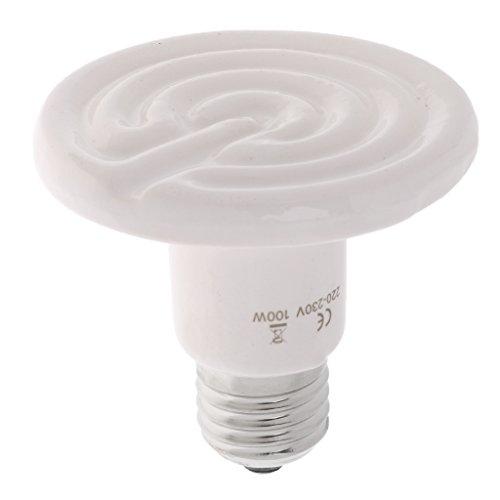Homyl E27 Wärmelampe Keramik Infrarot-Wärmestrahler Infrarotlampe Heizstrahler Heizung Glühbirne für Reptilien - 100W