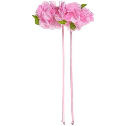 Grandes imitaciones - corona de pétalos para disfraz de hada (rosa) (a partir de 2 años)
