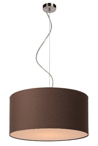 lucide-61452-40-43-lampadario-coral-in-cotone-e27-oe-40-cm-colore-bruno