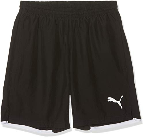 PUMA Kinder Hose Leisure Shorts, Black/White, 176 -