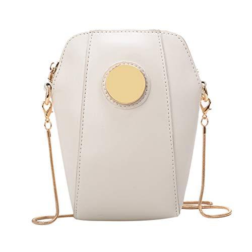 LILIHOT Damenmode Shell Pure-Color Cover Retro UmhäNgetasche Coin Purse Bag Schultertasche Damen Mit Kette Kleine Quadratische Paket Messenger Bag Handtaschen