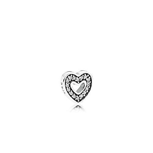 Pandora Funkelndes Herz Damen Medaillon Element 925 Sterlingsilber