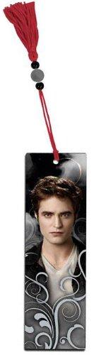 NECA Twilight Saga Lesezeichen: Edward Cullen Scroll und Team Edward & Löwe mit roter Quaste und Perlen - Edward Cullen Design
