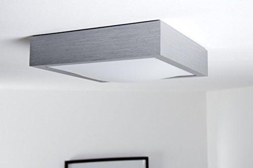 Plafoniera Quadrata Bagno : Led plafoniera quadrata watt policarbonato alluminio