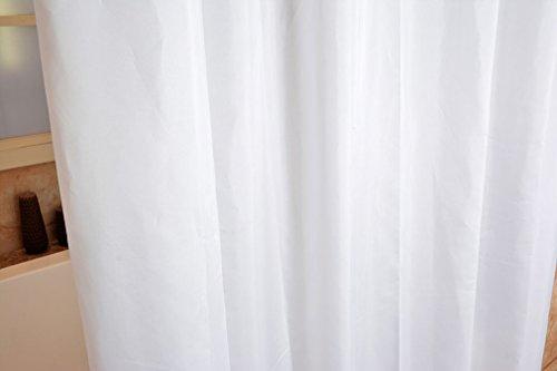 Tende Da Doccia In Lino : Super tenda per doccia in tessuto impermeabile bianco puro w