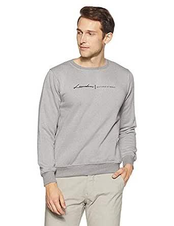 Qube By Fort Collins Men's Sweatshirt (929241 SMU_Grey_M)