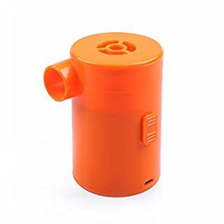 LC Prime Luftmatratze Pumpe, Portable 2 in 1 Inflator Deflator USB Rechargeable Pump Quick Inflate Deflate for Airbeds Mattresses Paddling Swimming Pools Toys Plastic Orange, by