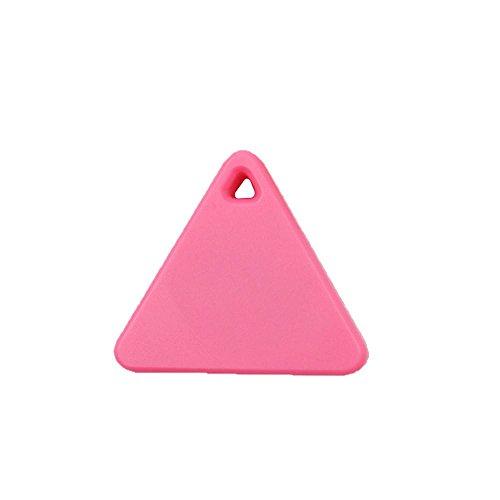 sunnymi Bluetooth Smart GPS Mini Tag Tracker Haustier Kind Brieftasche Schlüssel Finder Locator Alarm (GPS, Rosa)