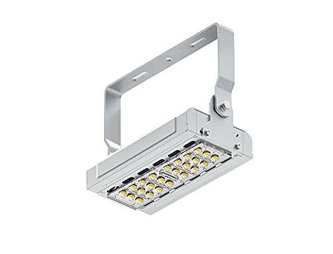 2-Pack 50W 90-265VAC Daylight White LED Flood Scurity Lumière 4500-5500Lm RGB IP65 Protection étanche 120 degrés Angle de faisceau pour extérieur AL-I-TGL50W