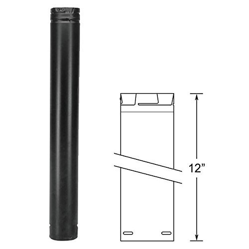 171213 3x12 Pellet Vent BLACK by M&G DuraVent - Pellet Vent