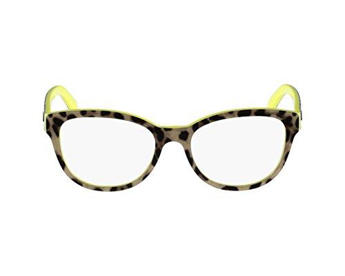 Dolce & Gabbana Für Frau 3209 Leopard On Yellow Kunststoffgestell Brillen, 53mm (Leopard Gabbana)