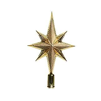 Baumspitze-Stern-Glitter-25cm-Kunststoff-gold-bruchfest-Christbaumschmuck-Weihnachtsdeko-Christbaumspitze-Weihnachtsbaumspitze-Baumspitze-Tannenbaumspitze