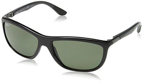 Rayban Unisex Sonnenbrille Model: 8351, Mehrfarbig (Gestell: schwarz-grau, Gläser: polarisiert grün 62199A), X-Large (Herstellergröße: 60)