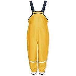 Playshoes Regenlatzhose Pantalones Para Niños Color Amarillo Edad 12-18 Meses