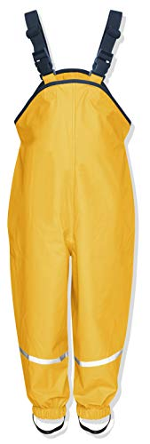 Playshoes Unisex Kinder Regenhose, Buddelhose, Matschhose, Gelb (Gelb)Gr.86 -