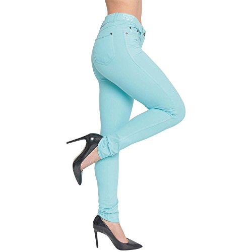New Womens SKINNY Fit Coloured HIGH WAISTED Stretchy Jeggings Ladies Zip Up Jeans PANTs Trousers Leggings Plus Size 8 10 12 14 16 18 20 22 24 26 28 Test