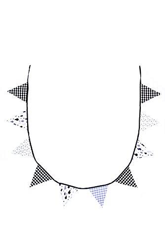 BB & Co Girlande Wimpelkette aus Baumwolle schwarz/weiß/grau