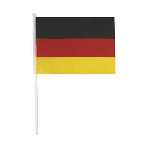Kostüm Patriot - Michel Toys NEU 4er Set Deutschland-Fahnen, Größe je 14x21cm