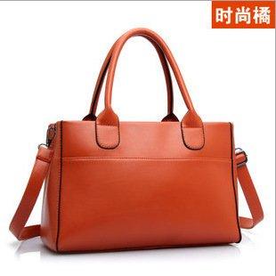 Meoaeo Europäische Und Amerikanische Mode Handtaschen Handtasche Einfache Schultertasche Orange