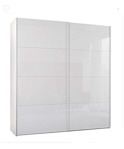Composad srl armadio due ante scorrevoli bianco lucido