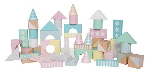 JaBaDaBaDo Bauklötze Bunt Pastell Bausteine Holzbausteine Bausteinebox Junge Mädchen Kinderzimmerdeko (Pastell-aufbewahrungsbox)