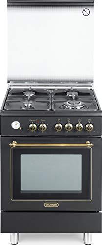 De Longhi PEMA 664 C Linea Country, Cucina a Gas 4 Fuochi con Forno Elettrico Ventilato 60x60, colore Crema