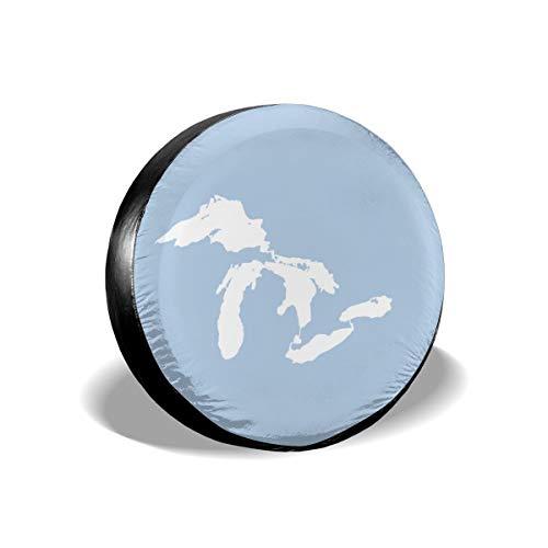Autoreifen & Radabdeckungen Great Sees Silhouette 18 weiß auf hellblau Ersatzrad Reifen Abdeckung passend für Jeep Camper Wohnmobil SUV LKW Felgenschutz Zubehör 38,1 cm (Abdeckung Jeep Reifen)
