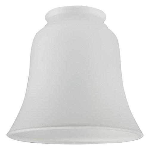 Westinghouse Lighting Westinghouse 4,3 cm Lampenschirm aus satiniertem Glas, Glockenform, weiß, 12.1 x 12.1 x 11.1 cm