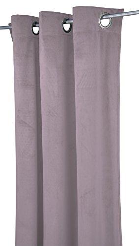 TOM TAILOR T-French Velvet Ösenschal, Polyester, Mauve, 135 x 245 cm -