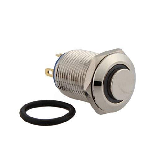TOOGOO(R) 12mm 3V Rojo LED Momentaneo Interruptor de boton pulsador de encendido...