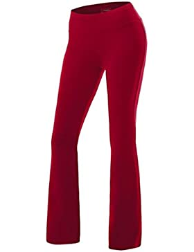 ZKOO Mujeres ólido De Las De Color Elástico En La Cintura Lazo Suelto Pierna Pantalones Casual Corredores Gimnasio...