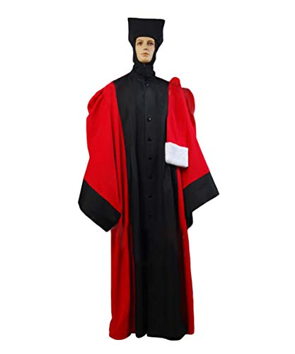 Tollstore Star Trek TNG The Next Generation Q Judge Robe Cosplay Kostüm Herren - Star Trek Next Generation Kostüm Rot