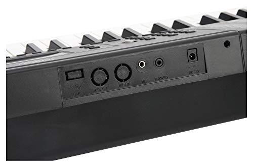 Funkey 00038126 61-Edition Keyboard (128-Sound, 128-Rhythmen, 10-Demo Song, Netzteil, Notenständer) schwarz - 8