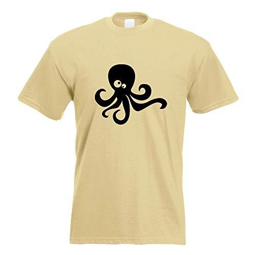 Kiwistar Oktopus Comic T-Shirt Motiv Bedruckt Funshirt Design Print