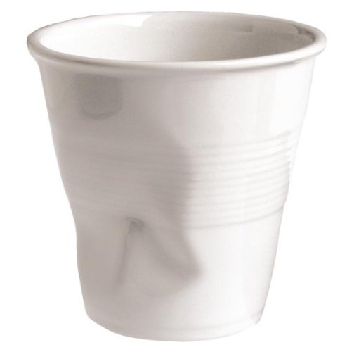 Revol froissés Espresso Blanc Gobelet 2,75 oz / 80ml. Quantité, boite: 6.