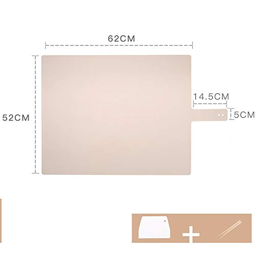 xgvvb Silikonmatte MatteLebensmittelqualität Panel HaushaltsbackenwerkzeugeRosa (Zuckerrohr+Gesichtsmesser)