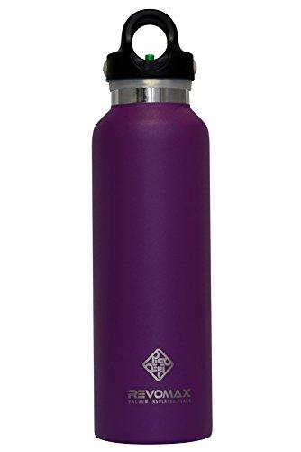 Revomax Twist gratis Isolierte Edelstahl-Flasche mit Standard Mund, 592ml, Flieder Lila (Vakuum-isolierte Spender)