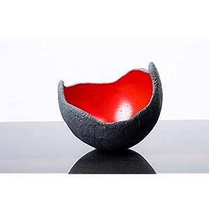 Edle Dekoschale in rot – S (15cm) – Beton schwarz – grau Beton schwarz/grau | Unikat handmade – Geburtstagsgeschenk…