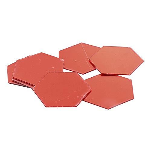 3D Hexagon acryl Spiegel wandaufkleber DIY Kunst Wand-dekor Aufkleber Wohnzimmer gespiegelt Aufkleber Gold wohnkultur, rot ()